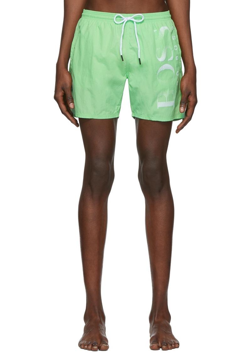 Hugo Boss Green Logo Swim Shorts