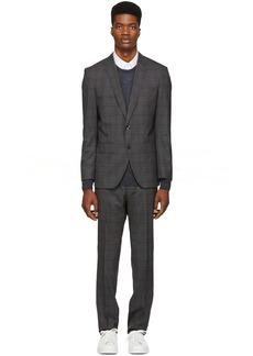 Hugo Boss Grey Check Huge 6 Genius 5 Suit