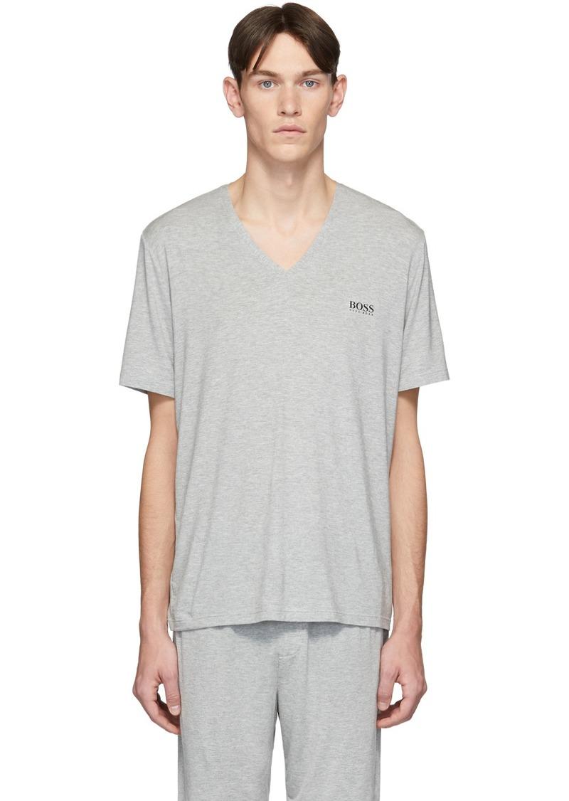 Hugo Boss Grey Jersey V-Neck T-Shirt