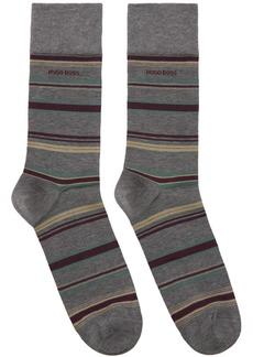 Hugo Boss Grey Multistripe Socks