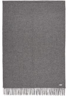 Hugo Boss Grey Oversized Lambswool Scarf
