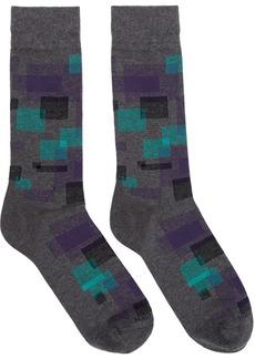 Hugo Boss Grey Square Socks