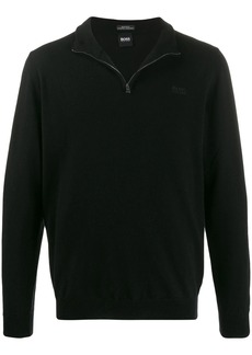 Hugo Boss half zip knit sweatshirt