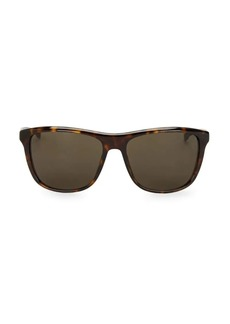 Hugo Boss Havana 64MM Square Sunglasses