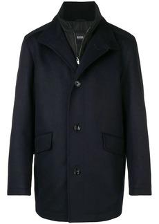 Hugo Boss high neck boxy coat