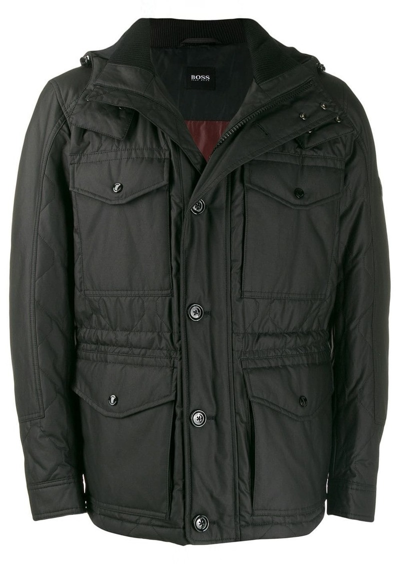 Hugo Boss hooded quilted jacket