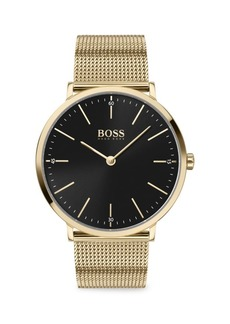 Hugo Boss Horizon Goldplated Stainless Steel Bracelet Watch