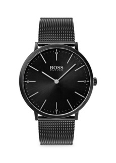 Hugo Boss Horizon Ionic-Plated Black Steel Bracelet Watch
