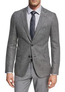Hugo Boss Houndstooth Jersey Wool Sport Coat