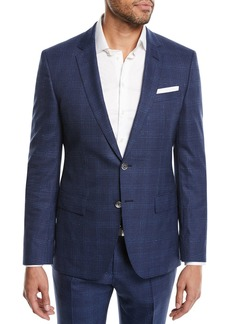 Hugo Boss Hudson Slim-Fit Two-Piece Windowpane Suit