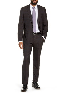 Hugo Boss Huge/Genius Trim Fit Windowpane Wool Suit