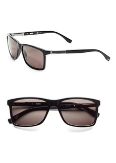 HUGO BOSS 57mm Rectangle Sunglasses
