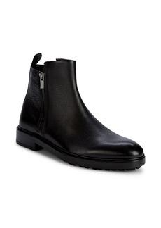 HUGO BOSS Bohemian Double-Zip Leather Boots