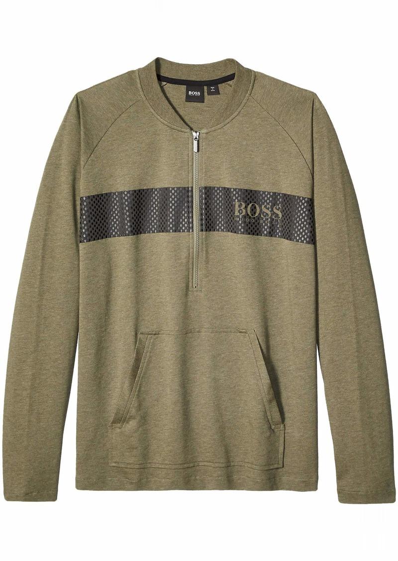 Hugo Boss BOSS Men's Contemporary Quarter Zip Lounge Jacket  L