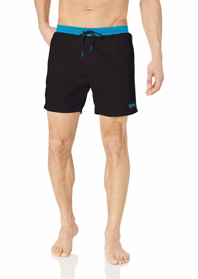 Hugo Boss BOSS Men's Medium Length Solid Swim Trunk  S