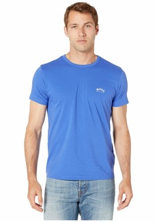 Hugo Boss BOSS Men's Modern Fit Basic Single Jersey T-Shirt  Blue M