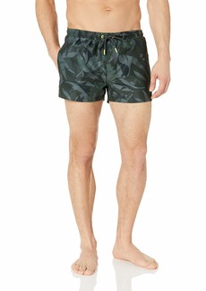 Hugo Boss BOSS Men's Pattern Short Length Swim Trunk  L