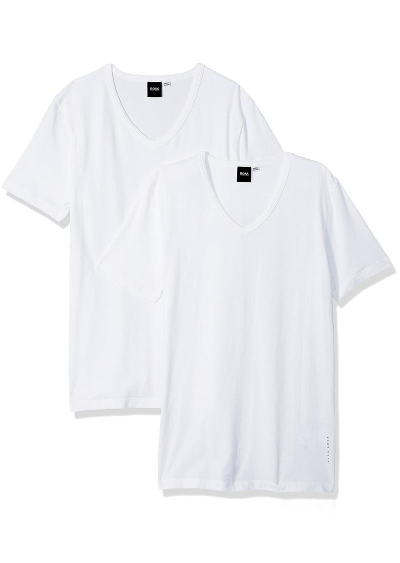 69b0c83c3 Hugo Boss Hugo Boss BOSS Men's T-Shirt Vn 2p Co/el 10194356 01 Now ...