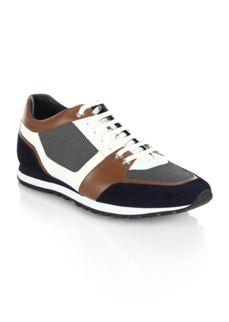 HUGO BOSS Breeze Runn Mx Leather Blend Sneakers