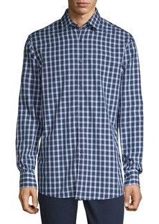 HUGO BOSS Checkered Button-Down Shirt