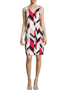 Hugo Boss Dephani Herringbone Sheath Dress