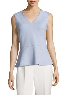 Hugo Boss Erane Textured Peplum Top