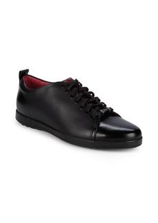 HUGO BOSS Flat Derb Leather Sneakers