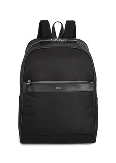 HUGO BOSS Leather-Trim Backpack