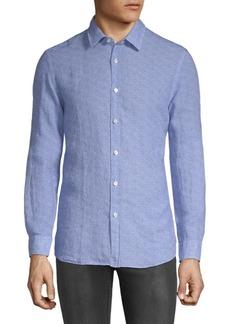 Hugo Boss Lukas Textured Cotton Button-Down Shirt