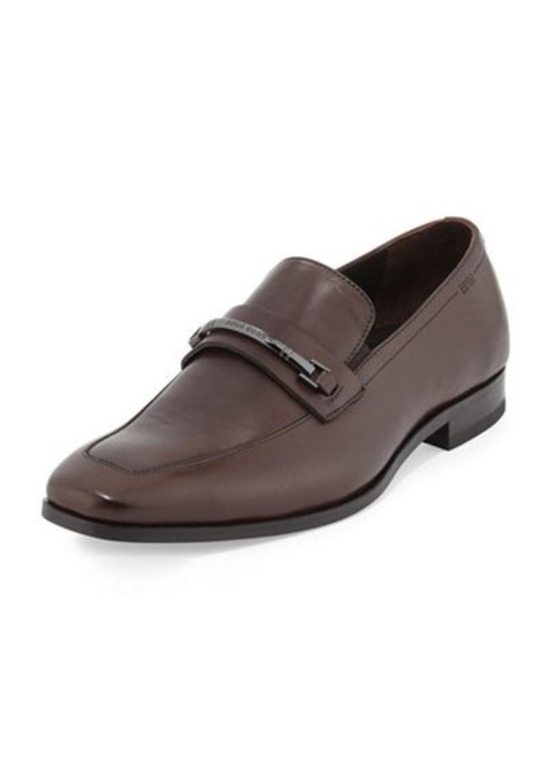Hugo Boss Maxinn Leather Logo-Bar Loafer