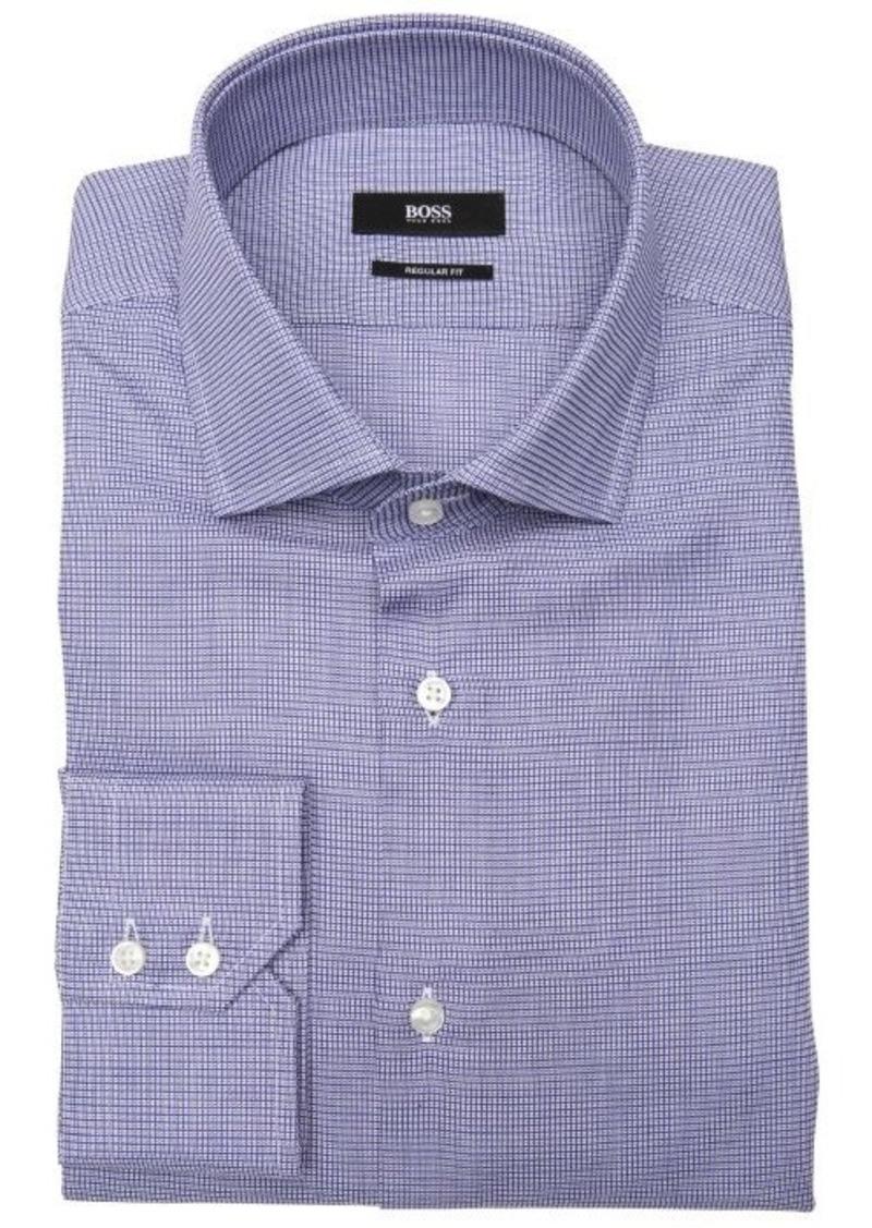 Hugo boss hugo boss medium blue microbox pattern 39 gordon for Hugo boss dress shirts