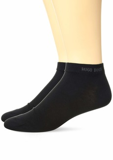 HUGO BOSS Men's 2-Pack Solid Cotton Ankle Socks