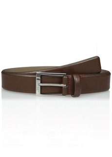Hugo Boss Men's Gellot Grainy Leather Belt dark brown