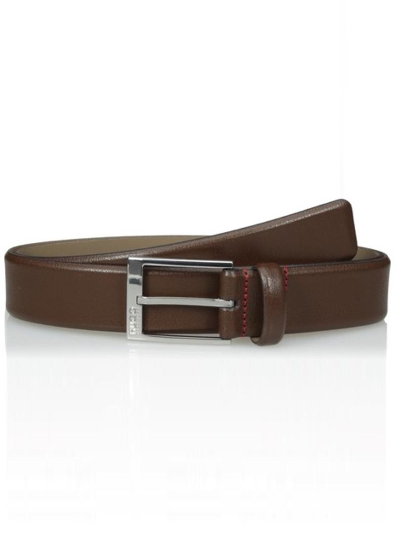 Hugo Boss Men's Gellot Grainy Leather Belt dark brown