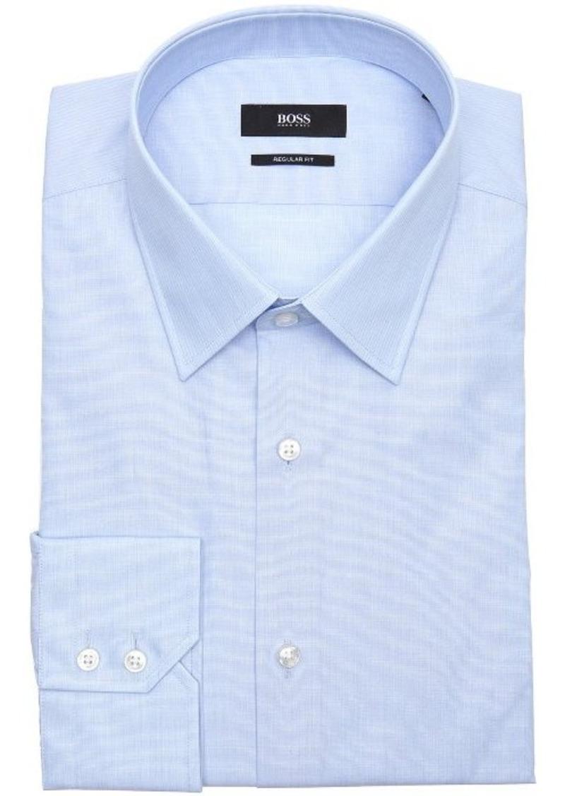 Hugo boss hugo boss pastel blue cotton point collar dress for Hugo boss dress shirts