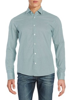Hugo Boss Patterned Slim Fit Sportshirt