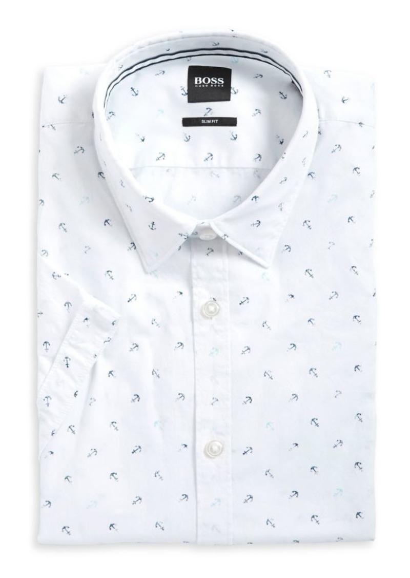 33a289249 Hugo Boss HUGO BOSS Ronn Printed Cotton Button-Down Shirt