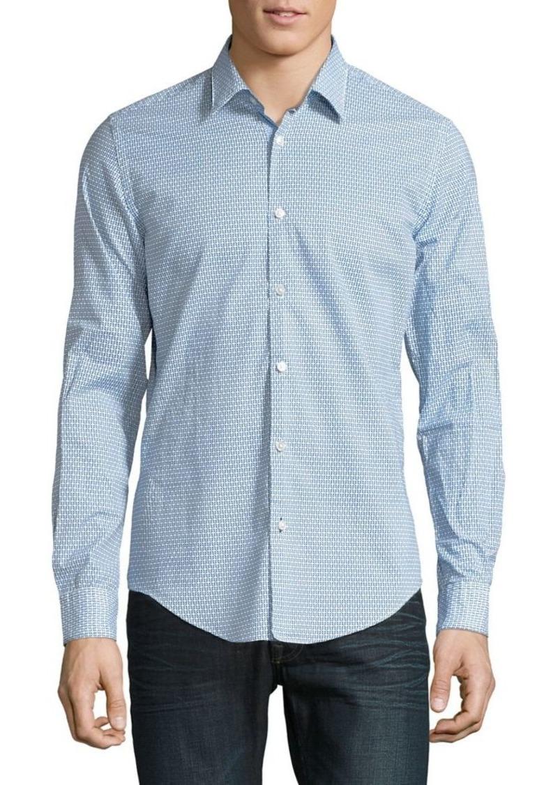 81fd02a6 Hugo Boss HUGO BOSS Ronni 63F Slim-Fit Button-Down Shirt | Casual Shirts