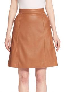 HUGO BOSS Sepai Leather A-Line Skirt