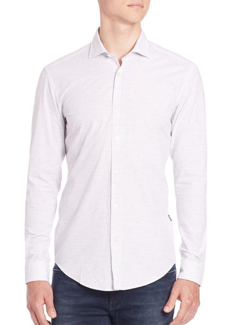 HUGO BOSS Slim-Fit Ridley Horizontal Shirt