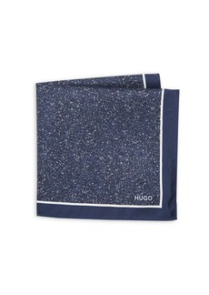 HUGO BOSS Speckled Square Silk Scarf