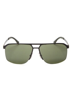 Hugo Boss Men's Square Top Bar Sunglasses, 52mm