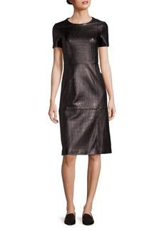 Hugo Boss Syzilia Croc-Embossed Leather Dress