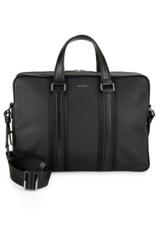 HUGO BOSS Textured Crossbody Briefcase
