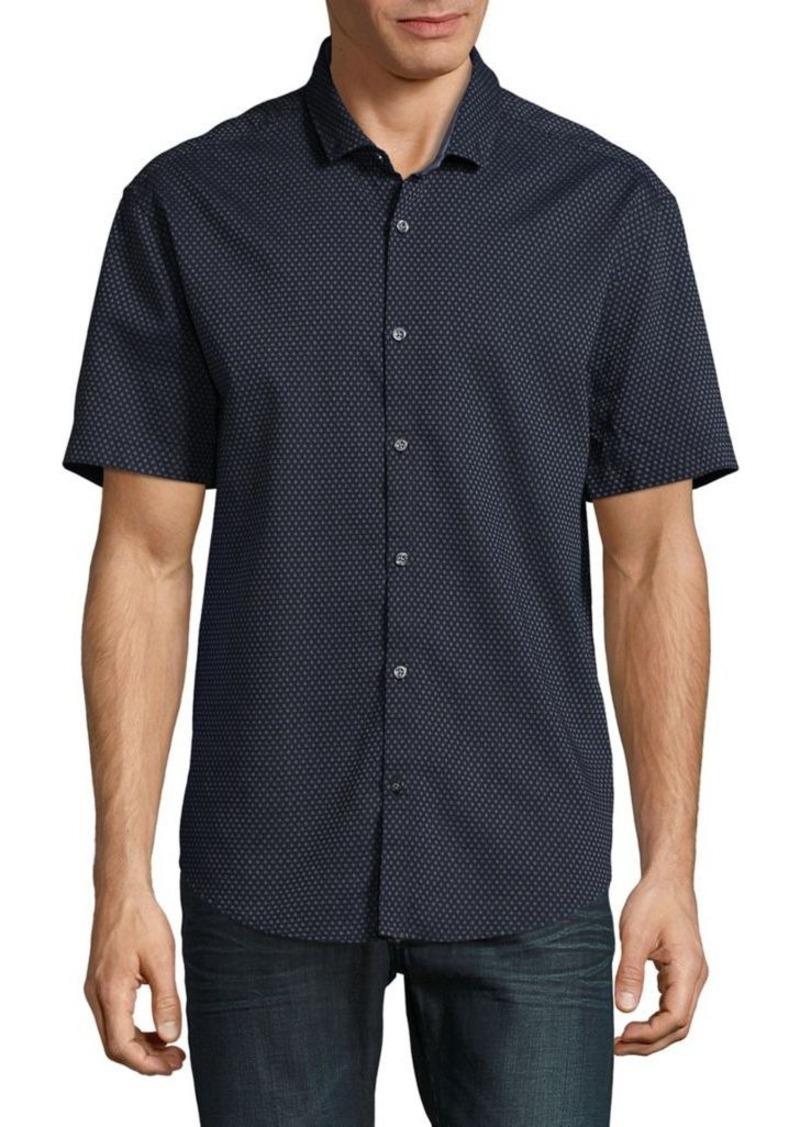 hugo boss hugo boss textured dot sportshirt casual. Black Bedroom Furniture Sets. Home Design Ideas