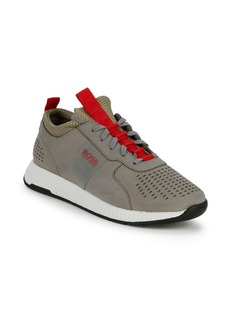 HUGO BOSS Titanium Leather Running Shoes