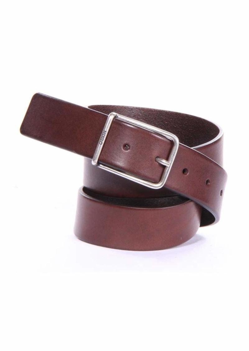 HUGO by Hugo Boss Men's Gal Leather Belt dark brown