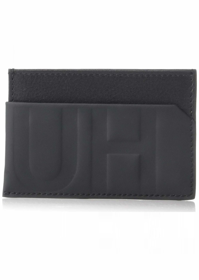 HUGO by Hugo Boss Men's Hero Hugo Logo Leather Card Case  One Size