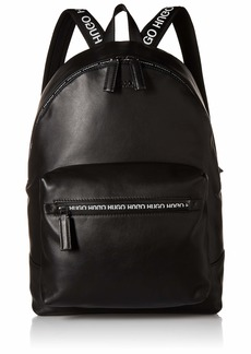 HUGO by Hugo Boss Men's National Soft Leather Backpack black ONE SIZE