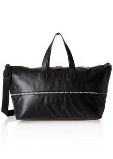 HUGO by Hugo Boss Men's National Soft Leather Holdall Weekender Bag  ONE Size